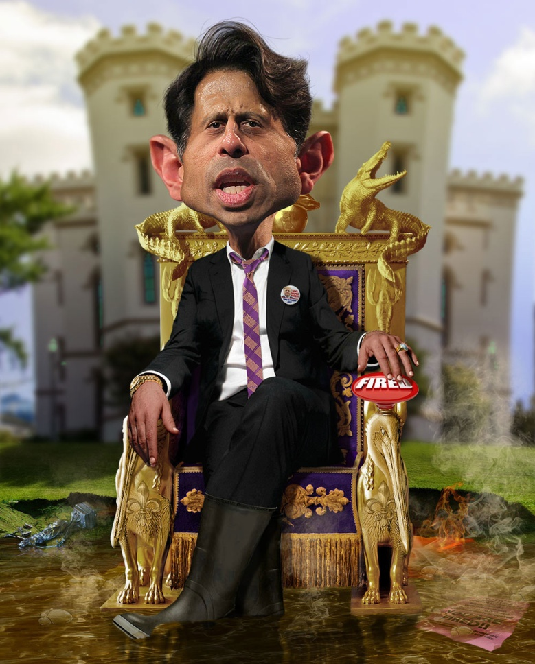 Bobby Jindal, illustrated by Rodney Pike