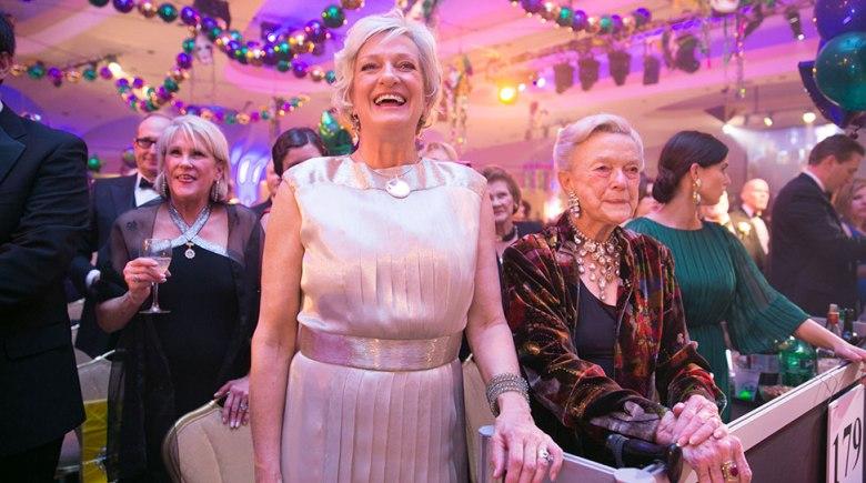 Moo Turner Svendson with her mother, Sue Turner, at the Washington Mardi Gras