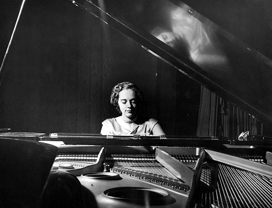 Carolyn Botkin Mattax performs at her LSU Piano Recital in 1951.
