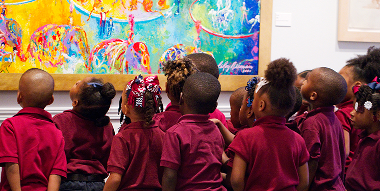 White Hills Elementary pre-kindergarten students learn about the use of color in art at the LSU Museum of Art. Photo by Andrea Laborde Barbier