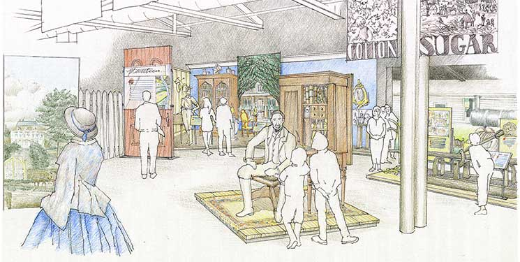 """""""Plantation Life"""" is one of the six proposed exhibits for the LSU Rural Life Museum Visitor Center."""