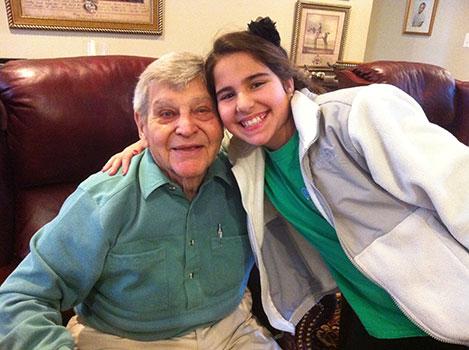 Charles Taylor with his granddaughter, Maya Sachdev
