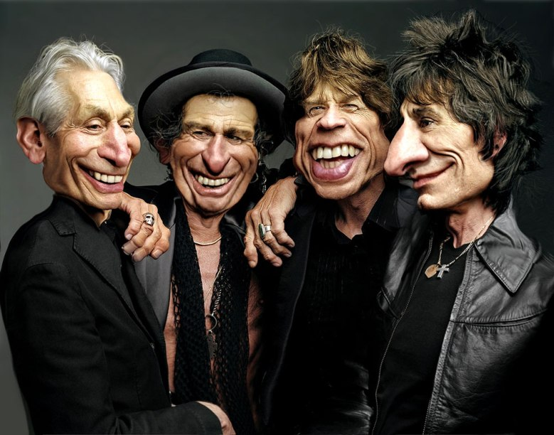 The Rolling Stones, illustrated by Rodney Pike