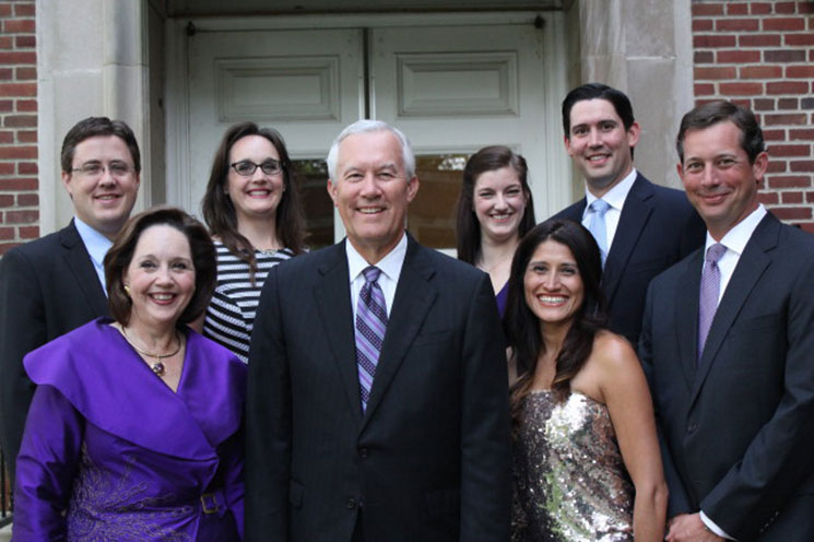 Nancy, Steve, Rachael and Russ Walker with Greg and Charlotte Sonnenfeld and Claire and Richard Walker.